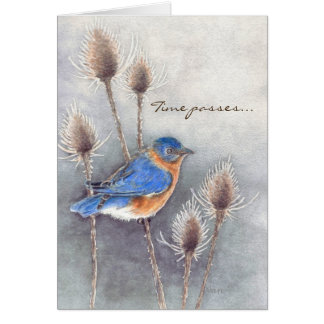 Blue Bird Thinking of You Card