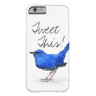 """Blue Bird """"Tweet This!"""" iPhone Case"""