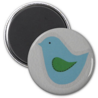 blue bird with green wing magnet