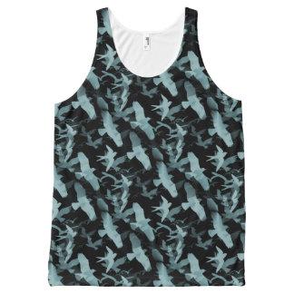 Blue Birds All-Over-Print Tank Top
