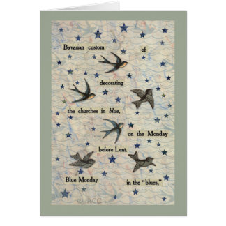 Blue Birds Card