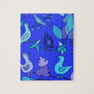 Blue Birds Jigsaw Puzzle
