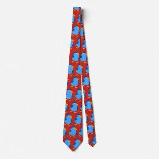 Blue birds party tie