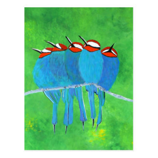 Blue Birds Postcard