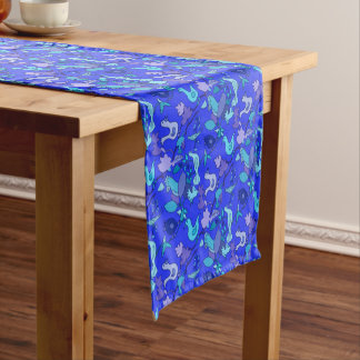 Blue Birds Short Table Runner