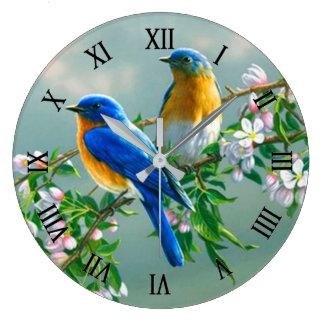 Blue Birds Wallclock