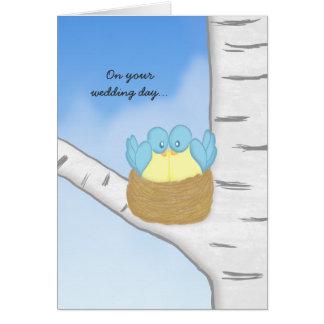 Blue Birds Wedding Card
