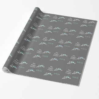 Blue Birds Wedding Wrapping Paper