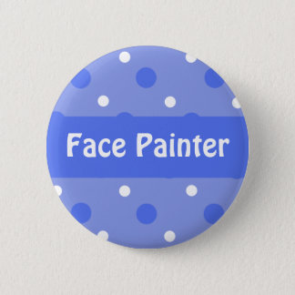 Blue Birthday 'Face Painter' Identification 2 Inch Round Button