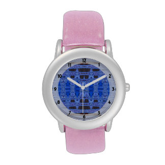 blue black abstract pattern watch