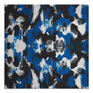 bLUE, BLACK ABSTRACT POSTER IDEAL FOR STUDIO OR CA