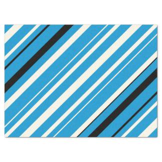 Blue, Black and White Striped Tissue Paper