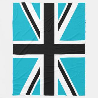 Blue Black and White Union Jack Fleece Blanket