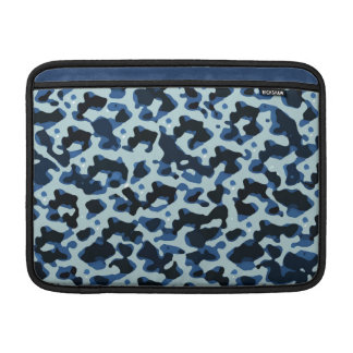 Blue Black Camo Abstract Pattern Sleeve For MacBook Air