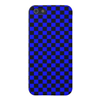 Blue & Black Checkerboard Case For iPhone 5/5S