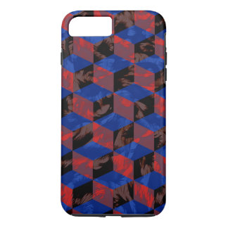 Blue Black Checkerboard iPhone 7 Plus Case