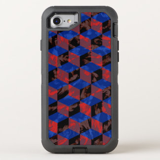 Blue Black Checkerboard OtterBox Defender iPhone 7 Case