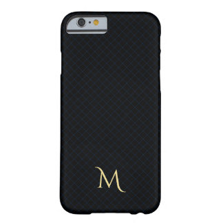 Blue Black Checkered Pattern Monogram iPhone Case