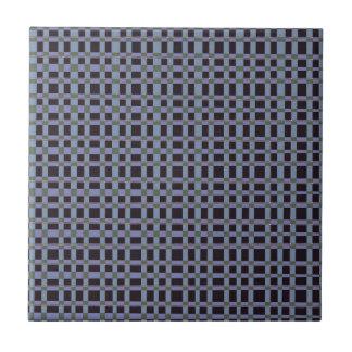 Blue Black Checks Artist created elegant pattern Tiles