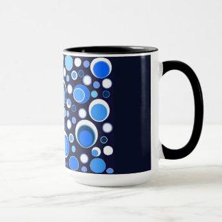 Blue/Black Circle Mug