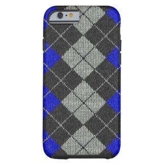 Blue & Black Comfy Argyle Look iPhone 6 case