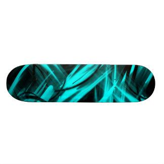 "Blue & Black Custom Graphics skateboard 7 7/8"""