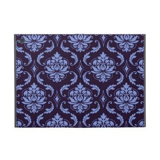 Blue Black Damask Vintage Pattern Cover For iPad Mini