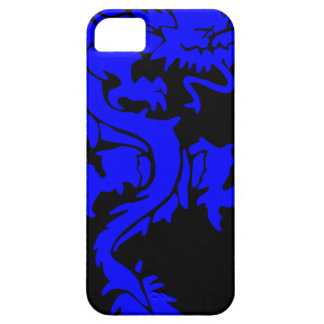 Blue/Black Dragon Iphone 5 Case