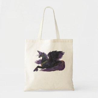 Blue Black Dragons Unicorn Moon Magical Purple Tote Bag