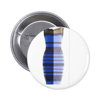 Blue Black Dress White & Gold Split Photo Pic 2 Inch Round Button