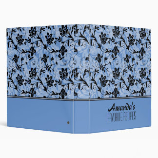 Blue & Black Flowers Binders