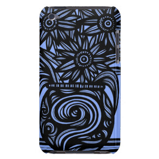 Blue, Black, Flowers, Floral Case-Mate iPod Touch Case
