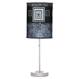 blue black lamp shade