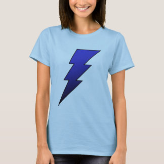 Blue Black Lightning Bolt Ladies T Shirt