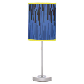Blue Black Lined Decorative lamp