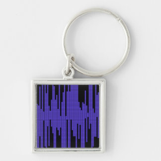 BLUE BLACK MUSIC BEATS VOLUME RECORDING DIGITAL KEYCHAIN