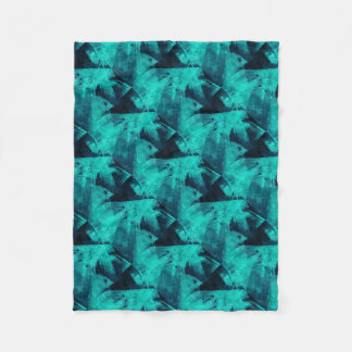 Blue-Black painting Fleece Blanket