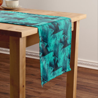 Blue-Black painting Short Table Runner