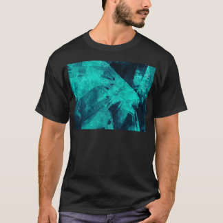 Blue-Black painting T-Shirt