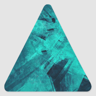 Blue-Black painting Triangle Sticker