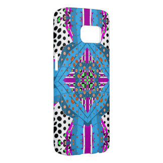 Blue Black Polka-dot Abstract Samsung Galaxy S7 Case