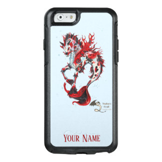 Blue Black Red Koi Fish Horse Personalize OtterBox iPhone 6/6s Case