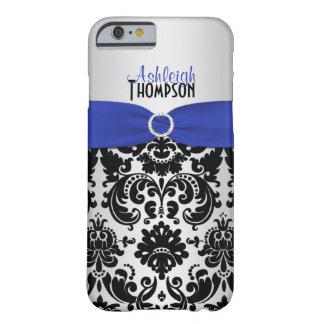 Blue, Black, Silver Damask iPhone 6 case