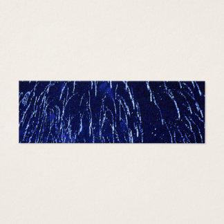 blue black sparkly fireworks bookmark mini mini business card