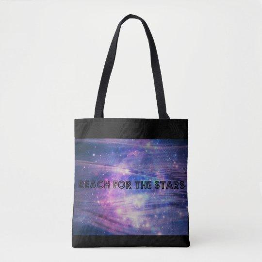 Blue & Black Star Design Tote Bag