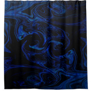 Blue Black Swirl Abstract Smoky Cool
