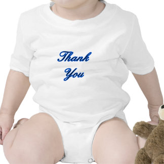 Blue Black Thank You Design The MUSEUM Zazzle Gift Baby Bodysuit