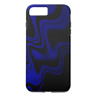 Blue Black Wavy Abstract iPhone 7 Plus Case
