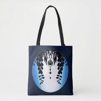 Blue Black Wisteria Silhouette Bag