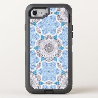 Blue Black Zebra Pattern OtterBox Defender iPhone 8/7 Case